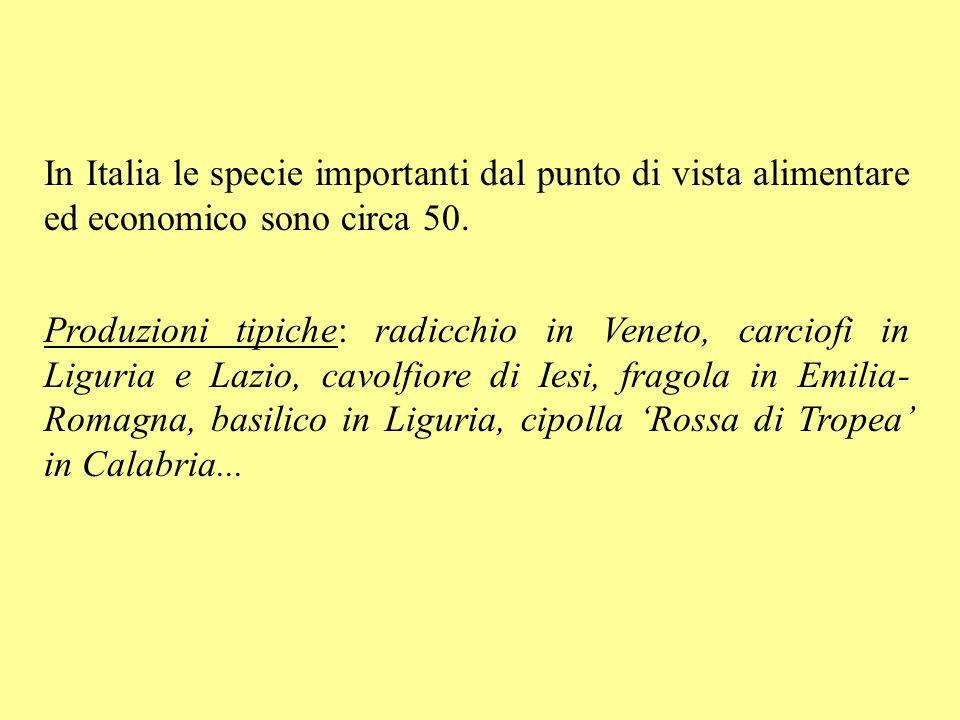 In Italia le specie importanti dal punto di vista alimentare ed economico sono circa 50.