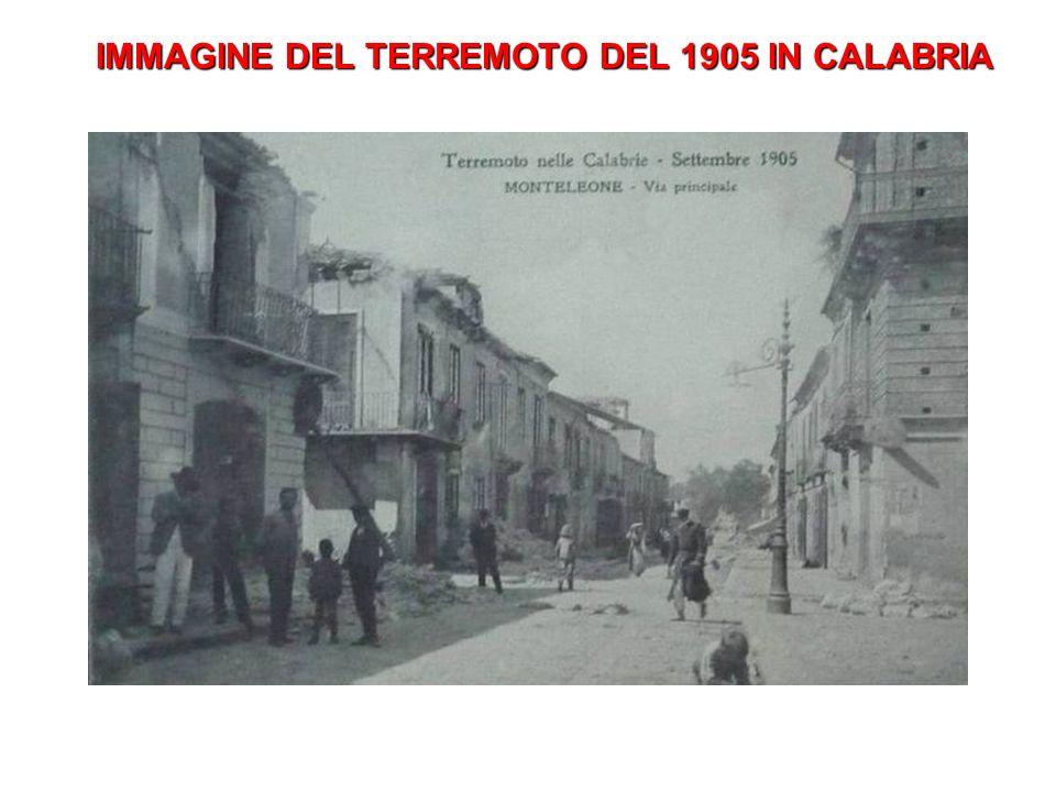 IMMAGINE DEL TERREMOTO DEL 1905 IN CALABRIA
