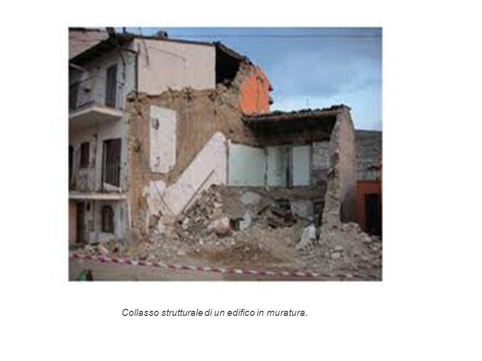 Collasso strutturale di un edifico in muratura.