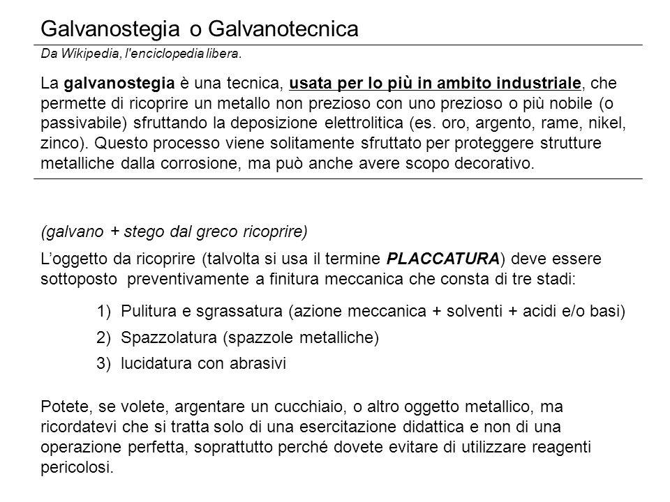 Galvanostegia o Galvanotecnica