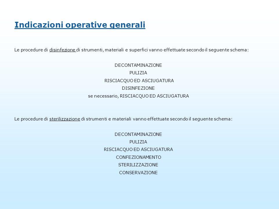 Indicazioni operative generali