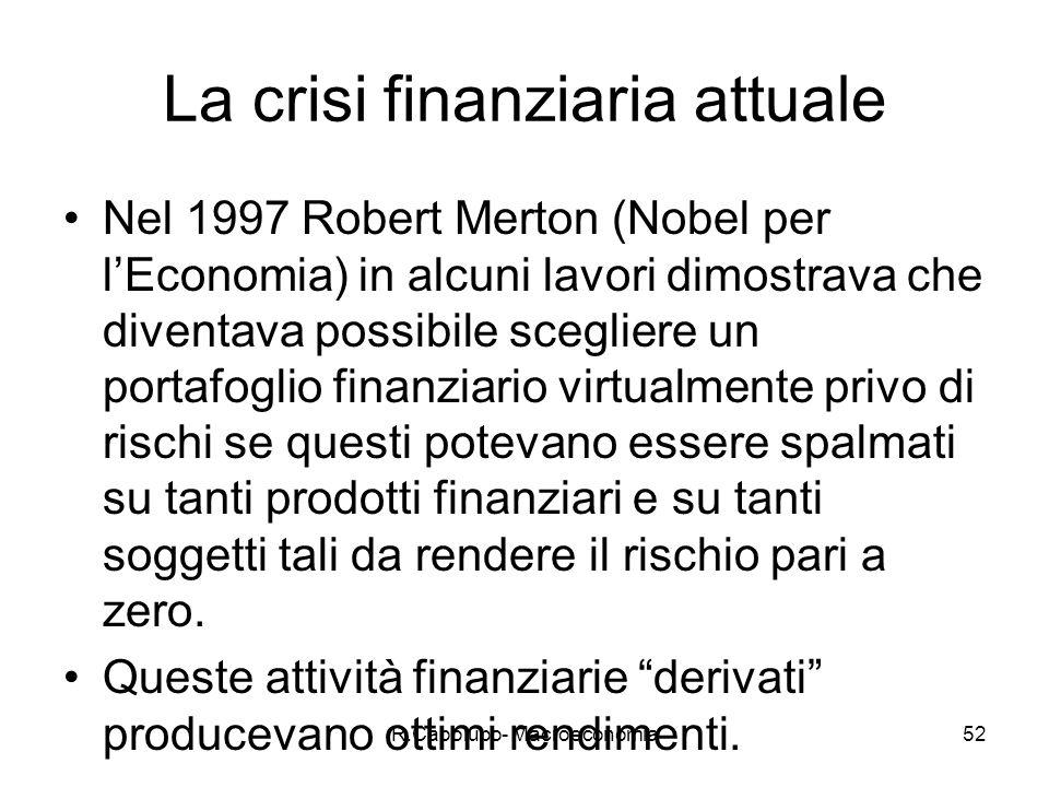 La crisi finanziaria attuale