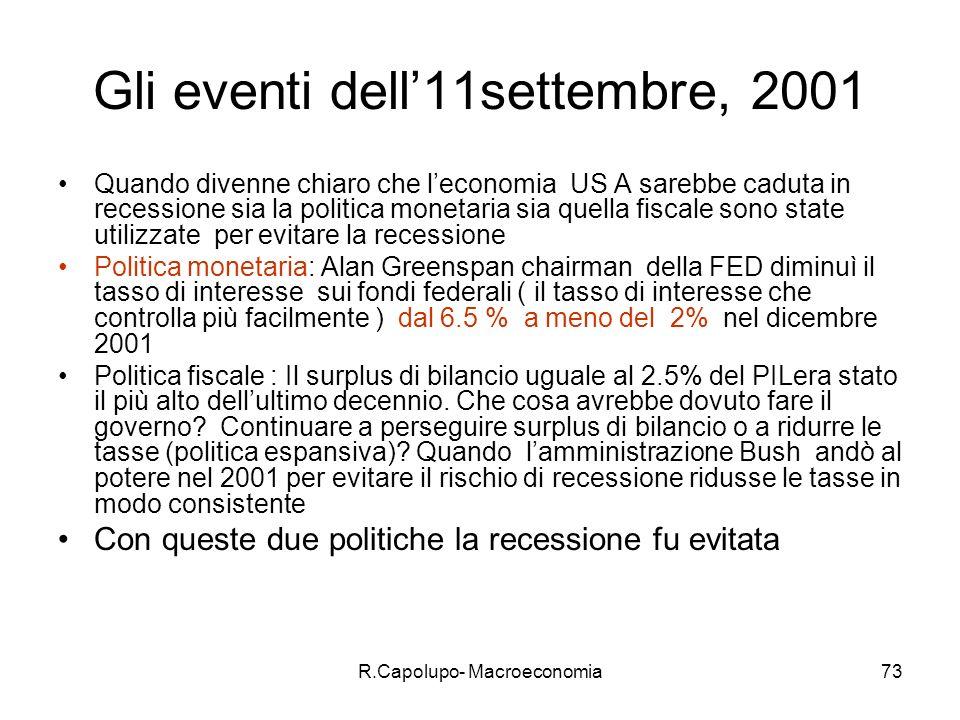 Gli eventi dell'11settembre, 2001