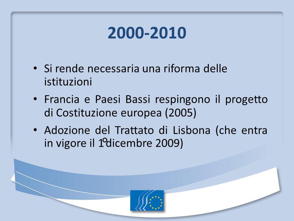 2000-2010 Si rende necessaria una riforma delle istituzioni