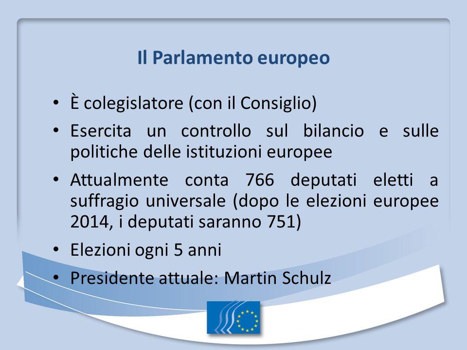 Il Parlamento europeo È colegislatore (con il Consiglio)