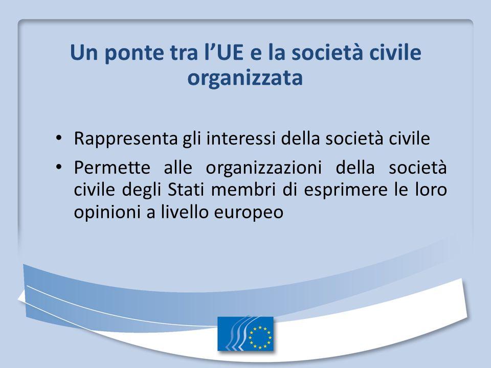 Un ponte tra l'UE e la società civile organizzata