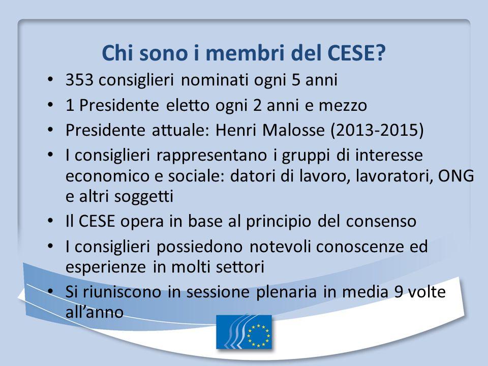Chi sono i membri del CESE