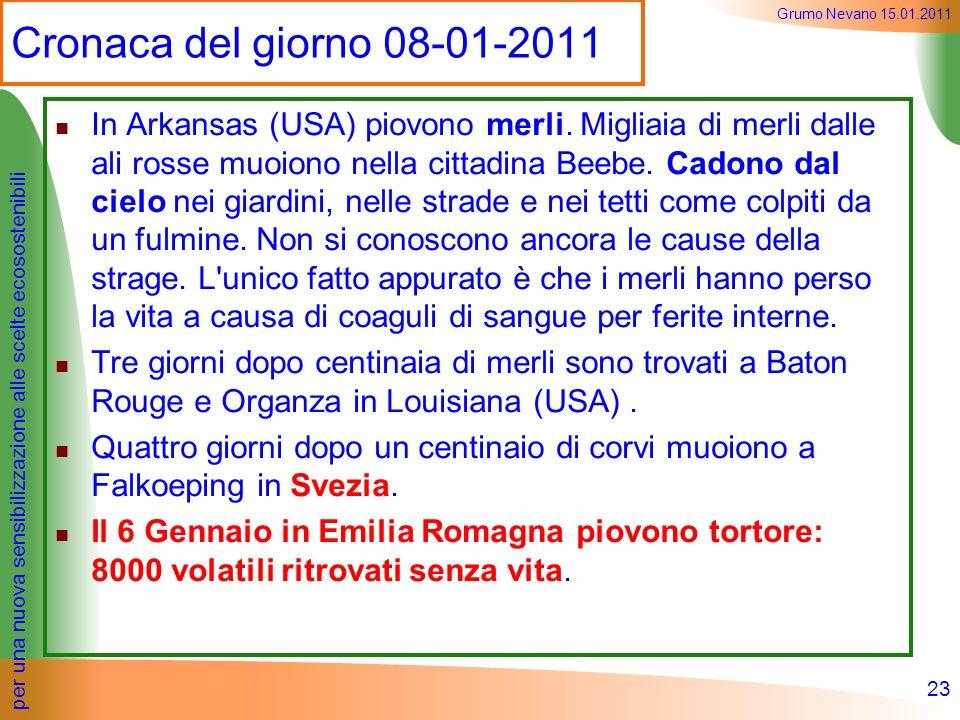 Cronaca del giorno 08-01-2011