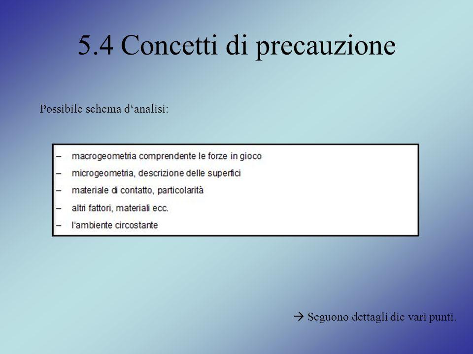 5.4 Concetti di precauzione