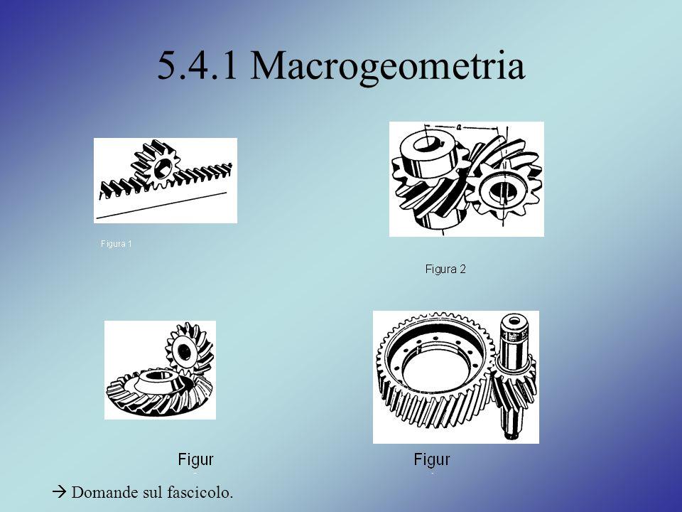 5.4.1 Macrogeometria  Domande sul fascicolo.