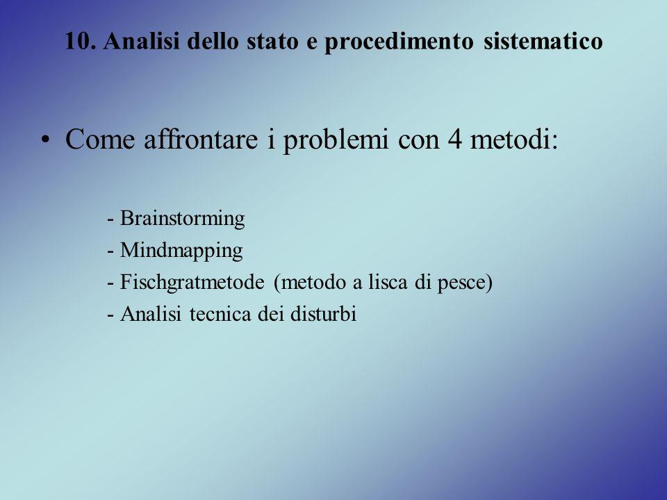 10. Analisi dello stato e procedimento sistematico