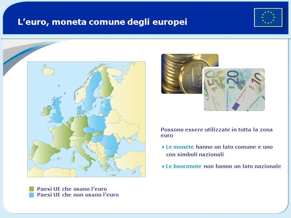 L'euro, moneta comune degli europei