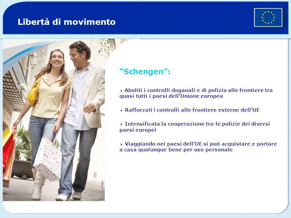 Libertà di movimento Schengen :