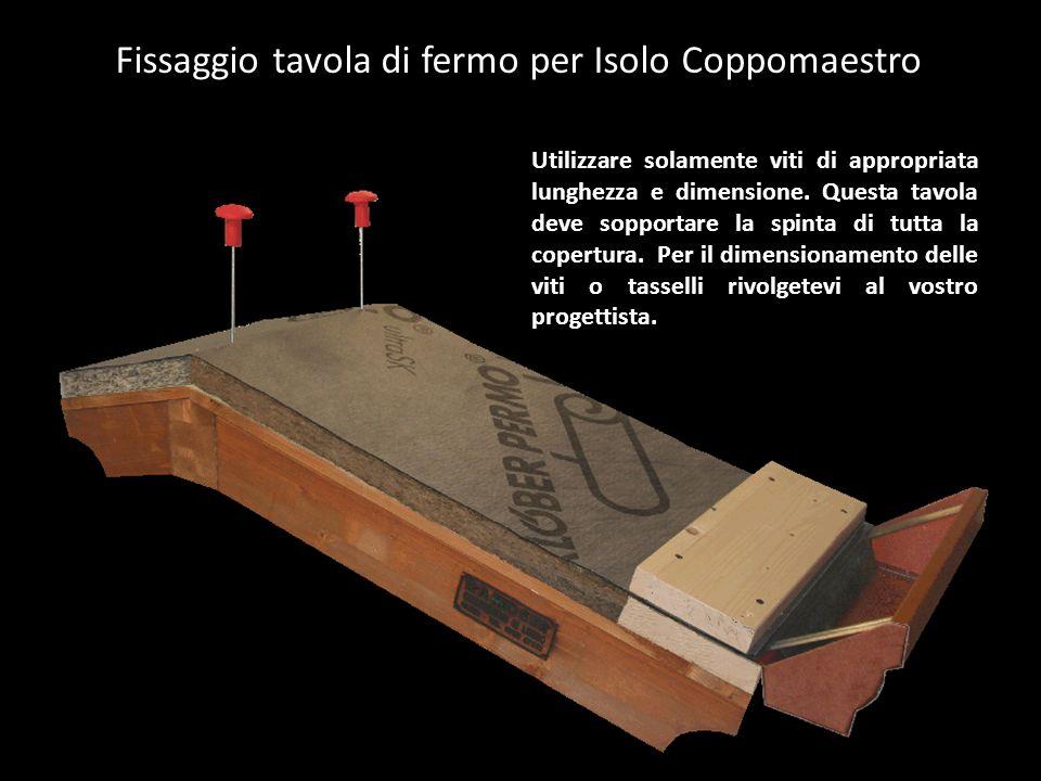 Fissaggio tavola di fermo per Isolo Coppomaestro