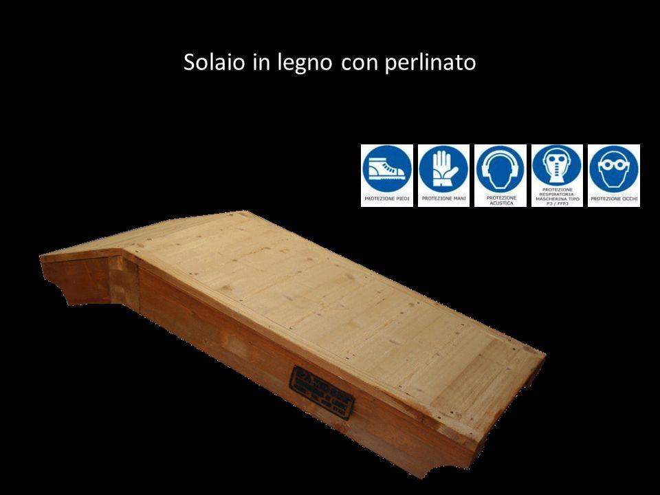 Solaio in legno con perlinato