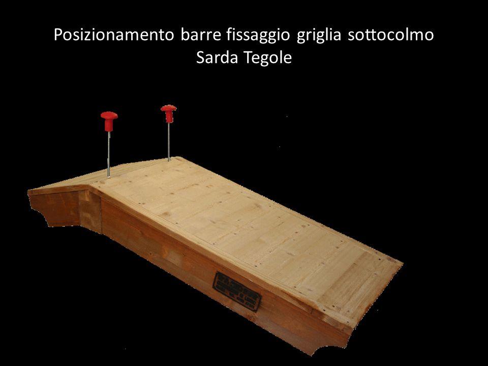 Posizionamento barre fissaggio griglia sottocolmo Sarda Tegole