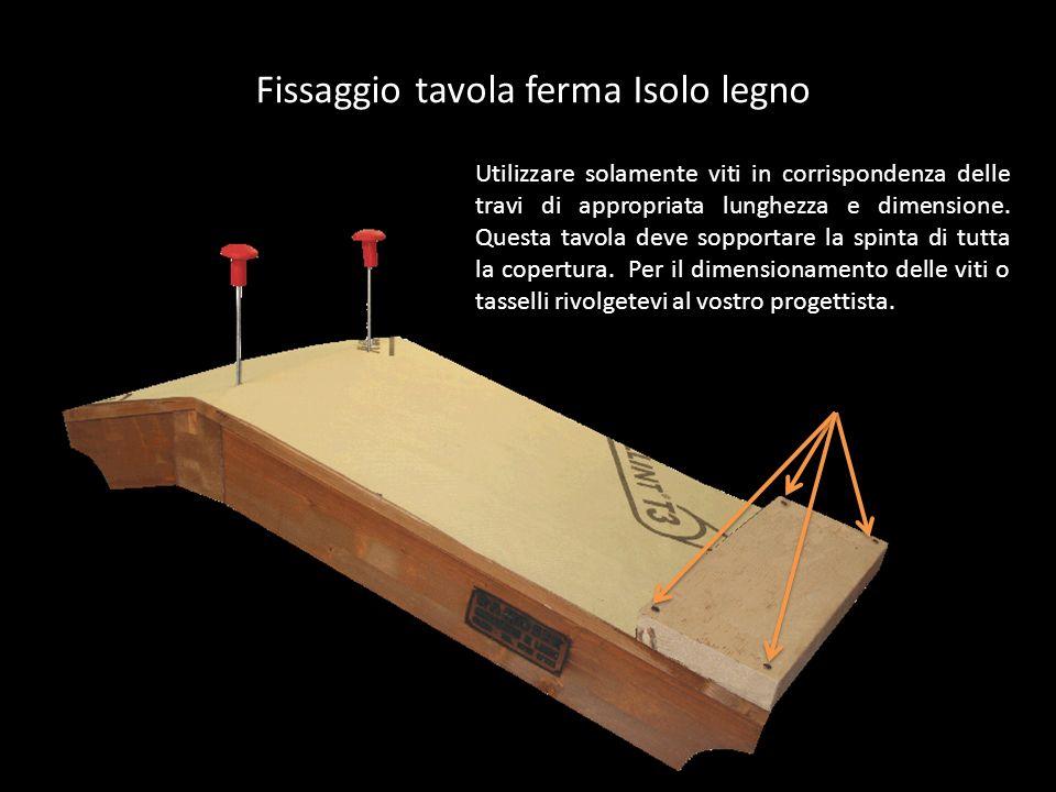 Fissaggio tavola ferma Isolo legno