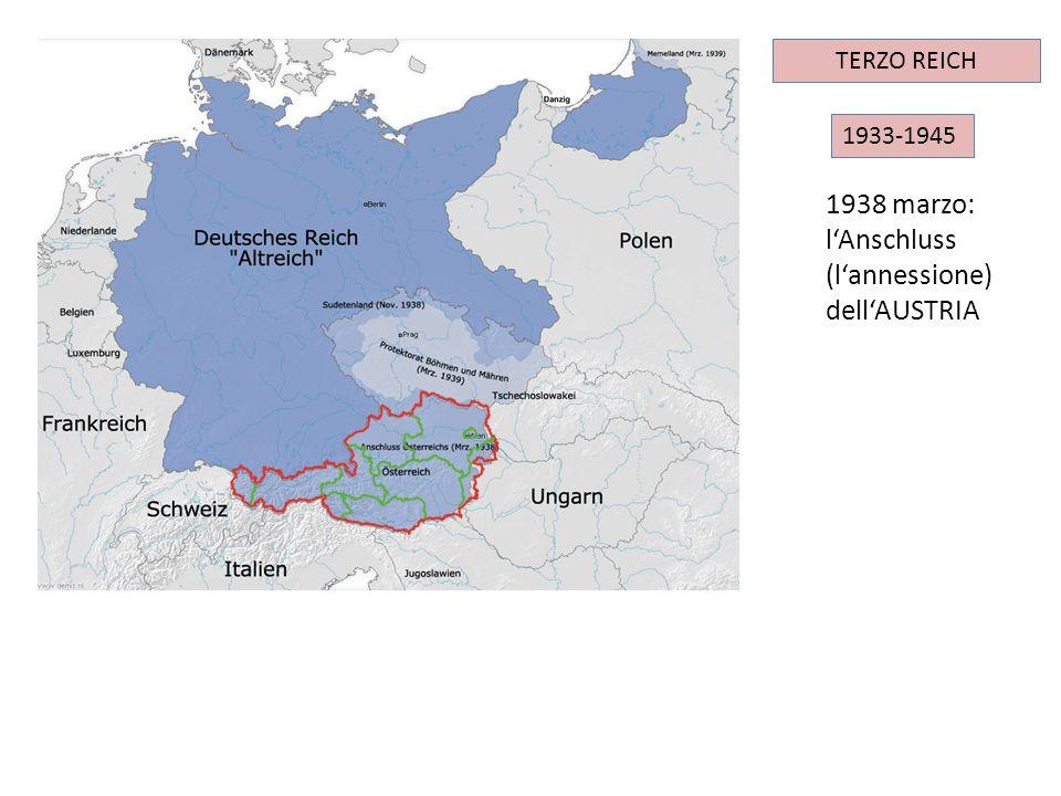 l'Anschluss (l'annessione) dell'AUSTRIA