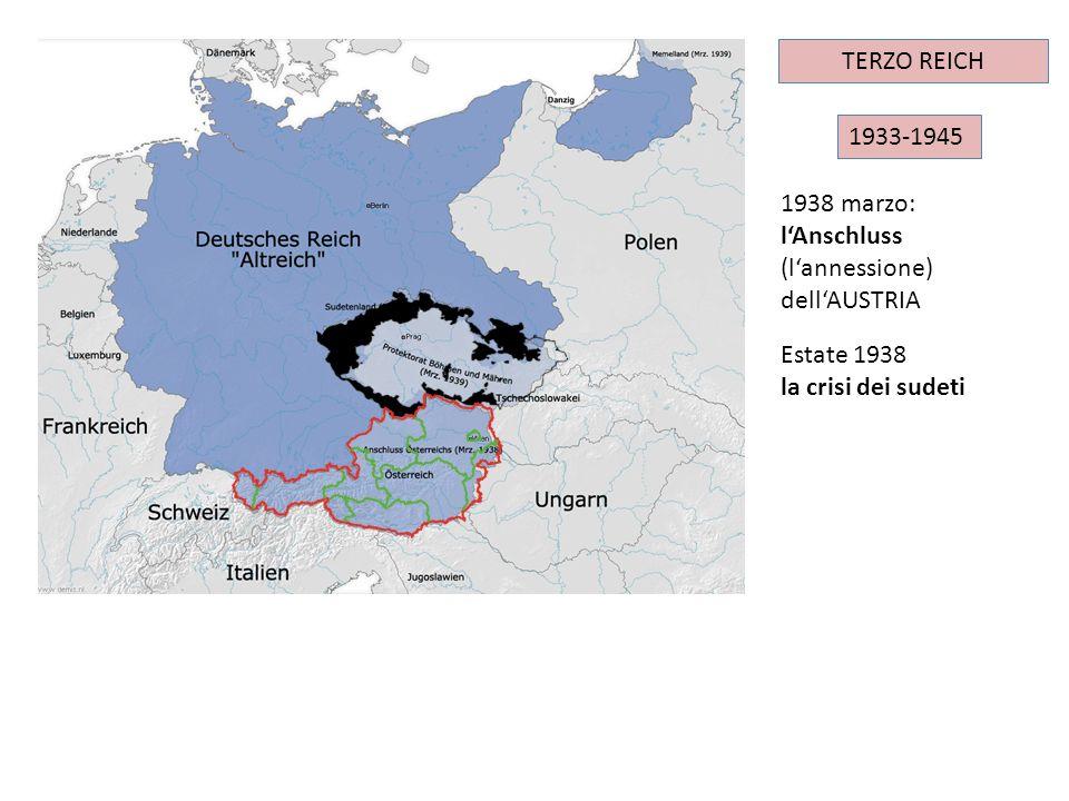 TERZO REICH IMPERO TEDESCO. 1933-1945. 1938 marzo: l'Anschluss (l'annessione) dell'AUSTRIA. Estate 1938.