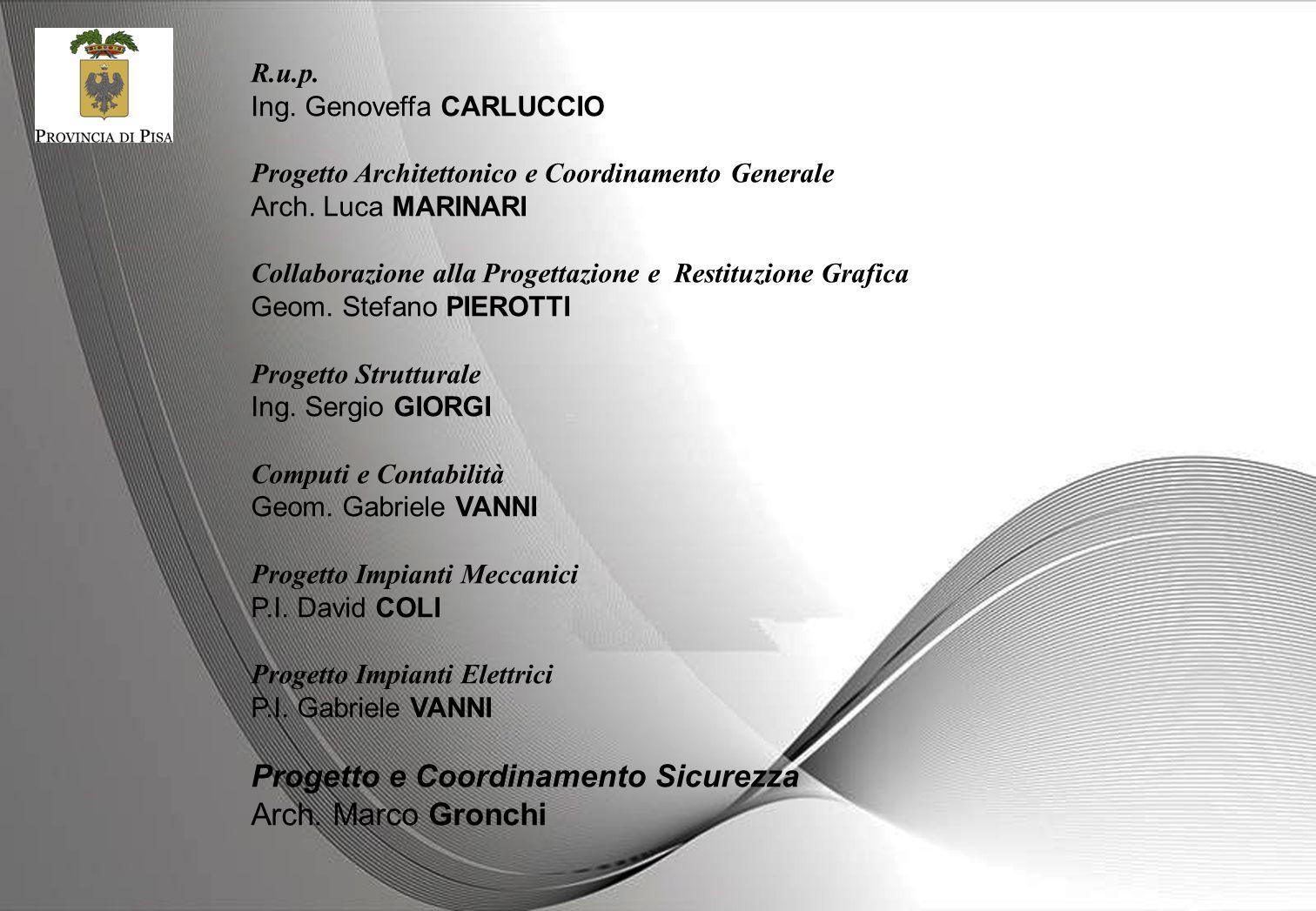 Progetto e Coordinamento Sicurezza Arch. Marco Gronchi