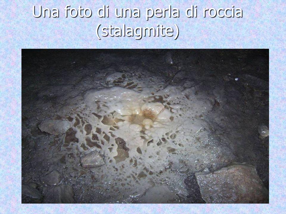Una foto di una perla di roccia (stalagmite)