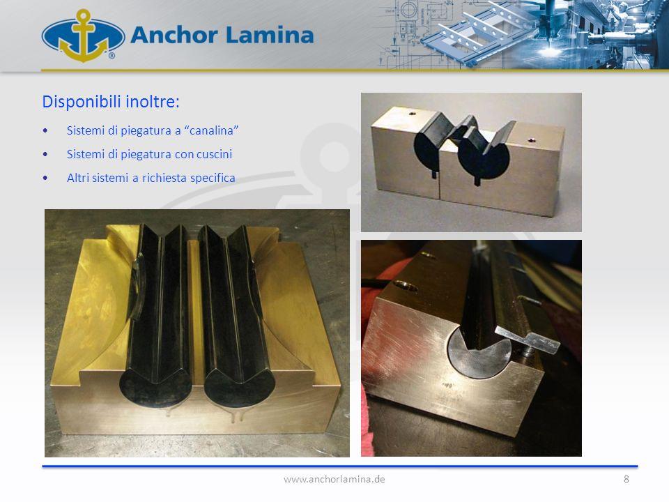 Disponibili inoltre: Sistemi di piegatura a canalina