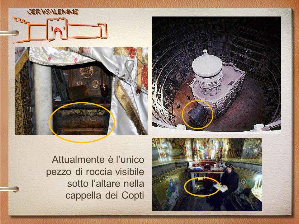 Attualmente è l'unico pezzo di roccia visibile sotto l'altare nella cappella dei Copti