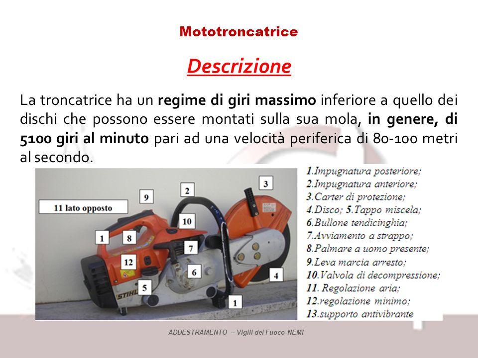Mototroncatrice Descrizione.