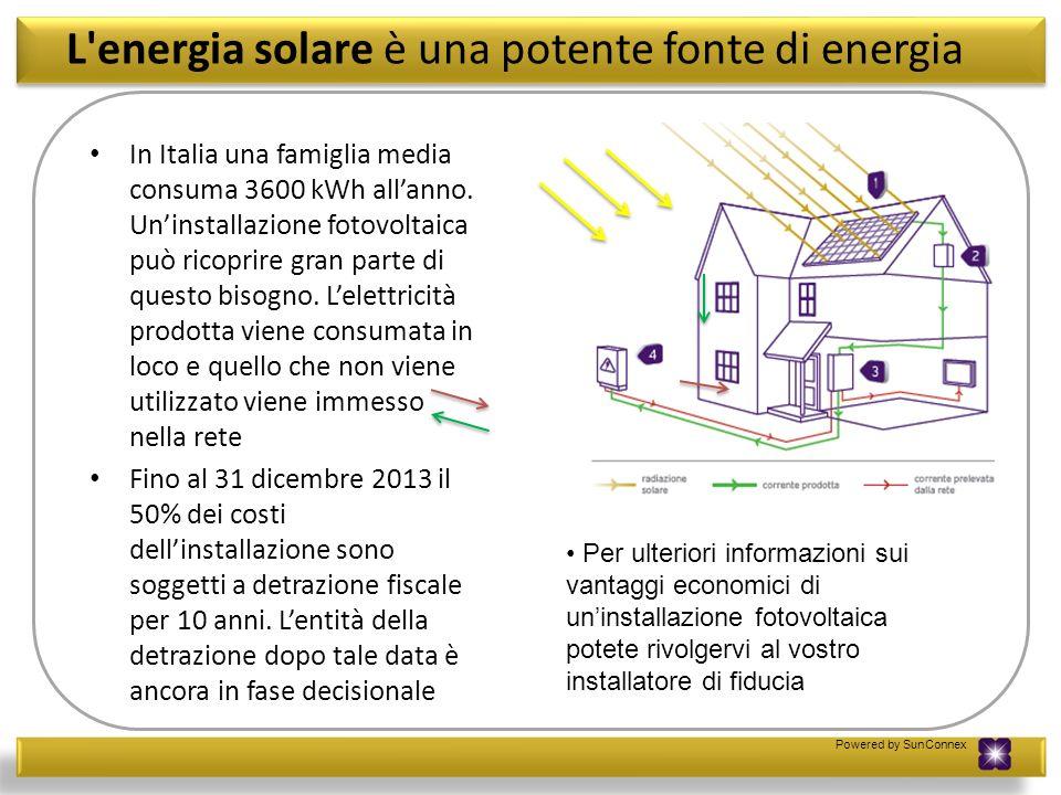 L energia solare è una potente fonte di energia