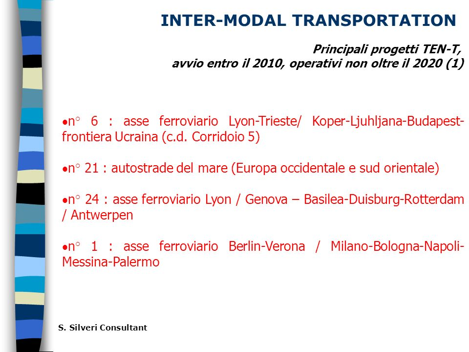 INTER-MODAL TRANSPORTATION