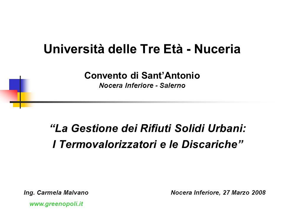 Università delle Tre Età - Nuceria Convento di Sant'Antonio Nocera Inferiore - Salerno