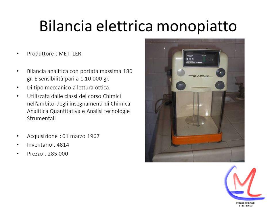 Bilancia elettrica monopiatto