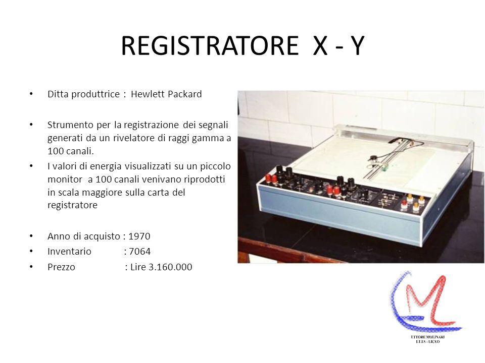 REGISTRATORE X - Y Ditta produttrice : Hewlett Packard