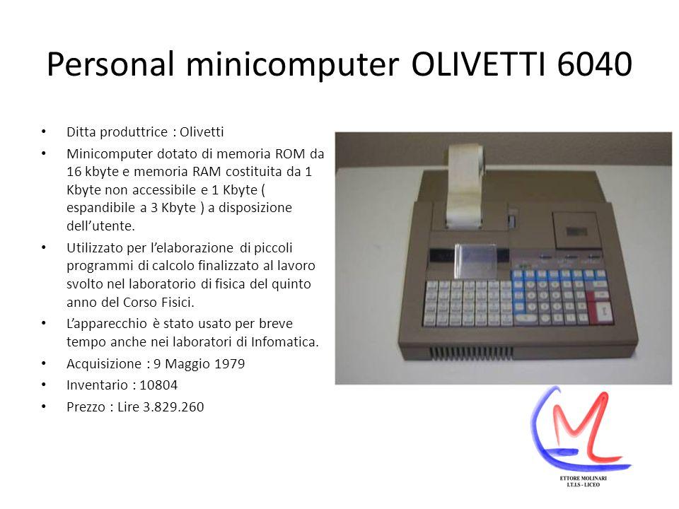 Personal minicomputer OLIVETTI 6040