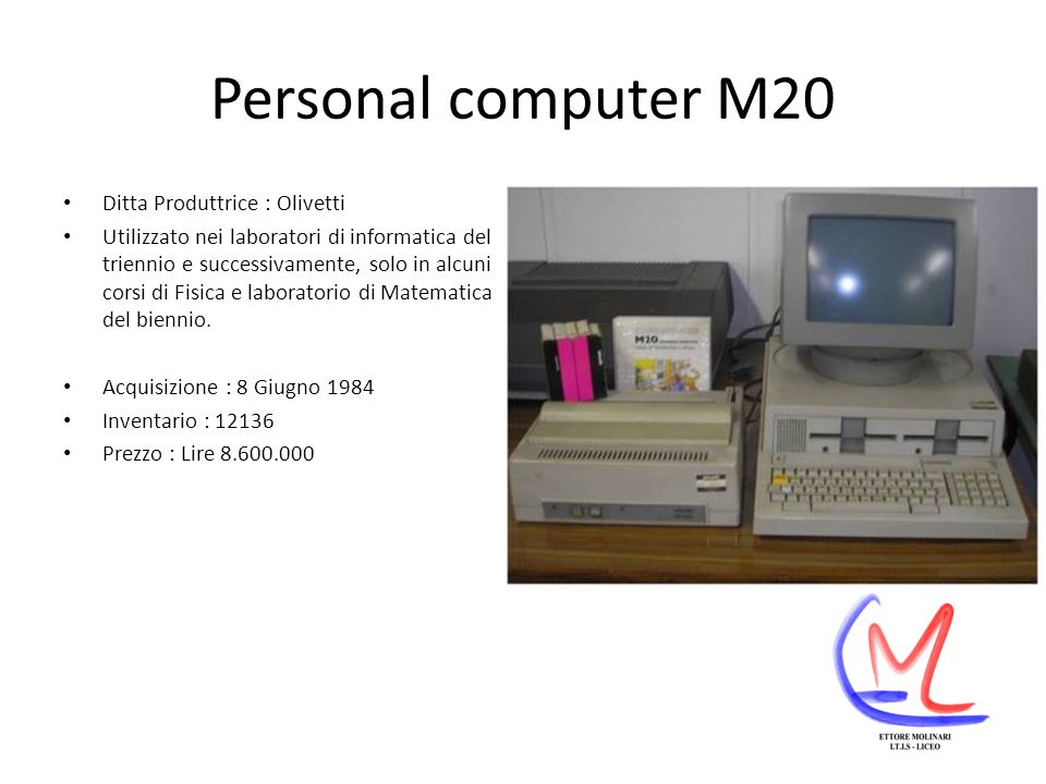 Personal computer M20 Ditta Produttrice : Olivetti