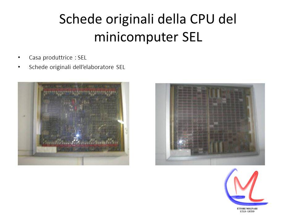 Schede originali della CPU del minicomputer SEL