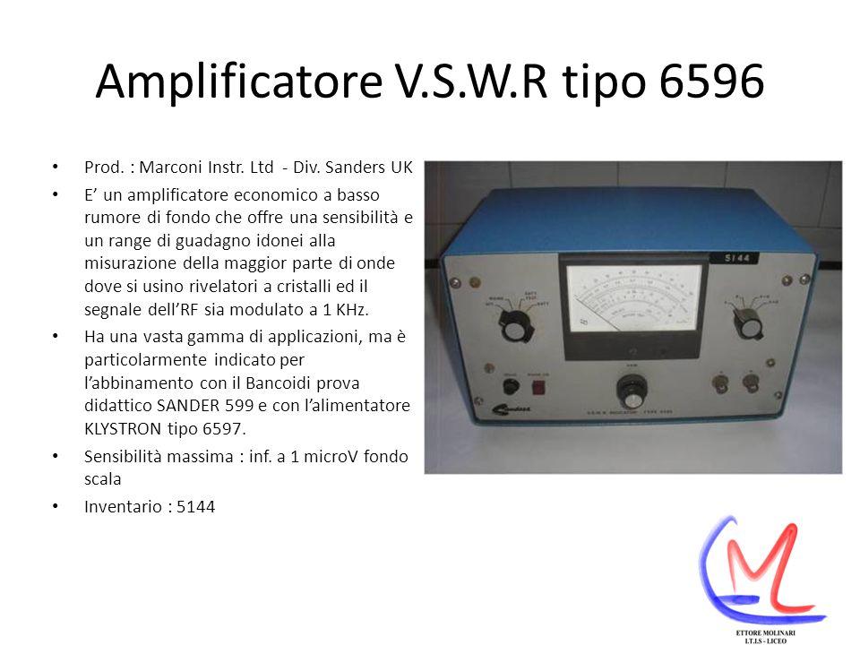 Amplificatore V.S.W.R tipo 6596