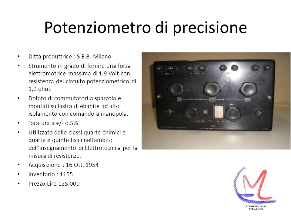 Potenziometro di precisione