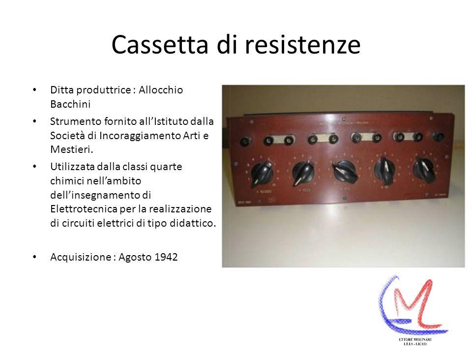 Cassetta di resistenze