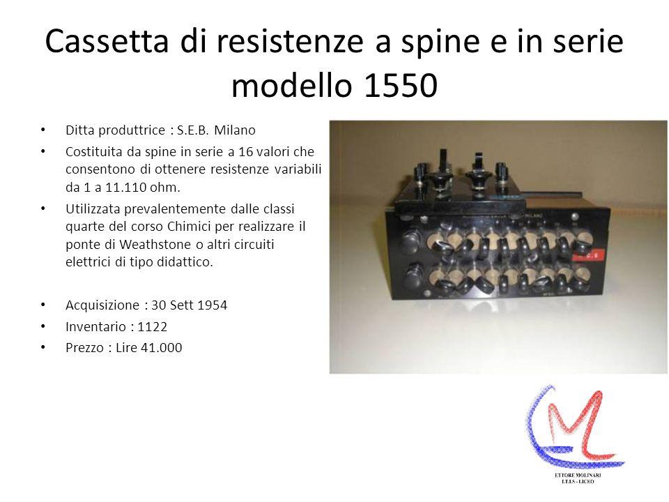 Cassetta di resistenze a spine e in serie modello 1550