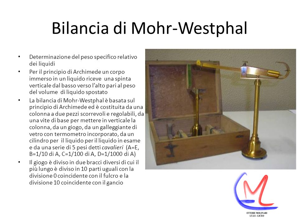 Bilancia di Mohr-Westphal