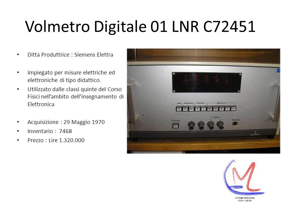Volmetro Digitale 01 LNR C72451