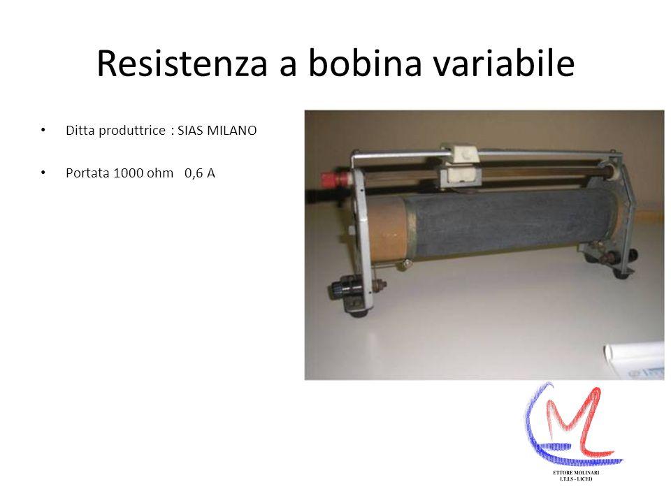 Resistenza a bobina variabile