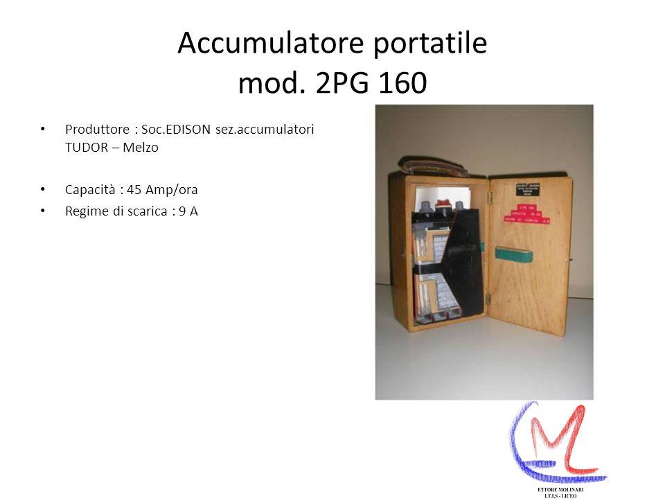 Accumulatore portatile mod. 2PG 160