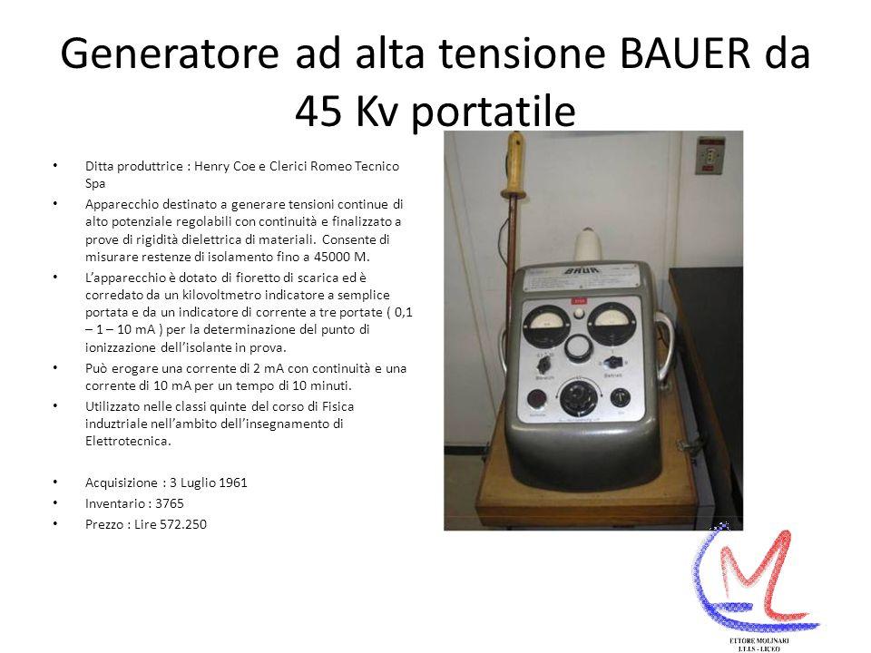 Generatore ad alta tensione BAUER da 45 Kv portatile