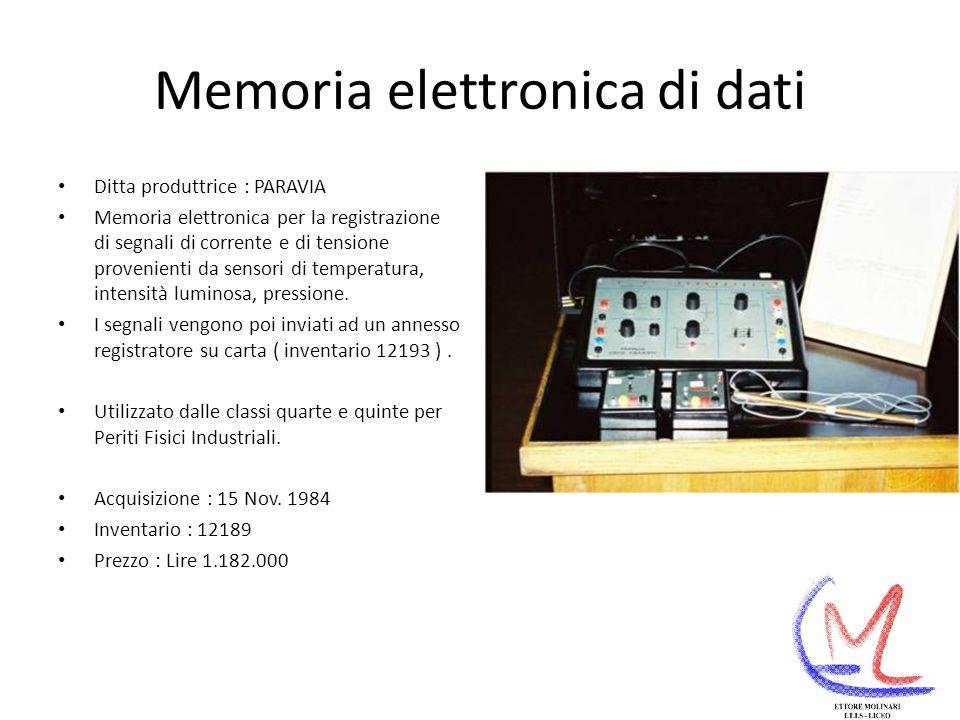 Memoria elettronica di dati