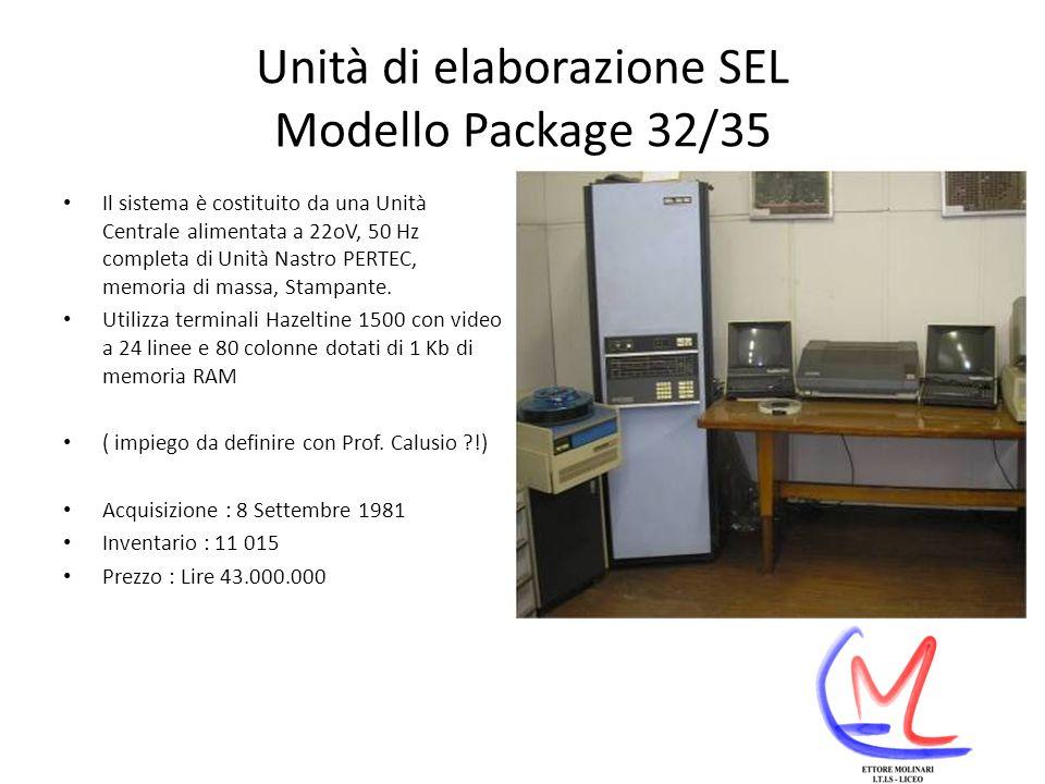 Unità di elaborazione SEL Modello Package 32/35