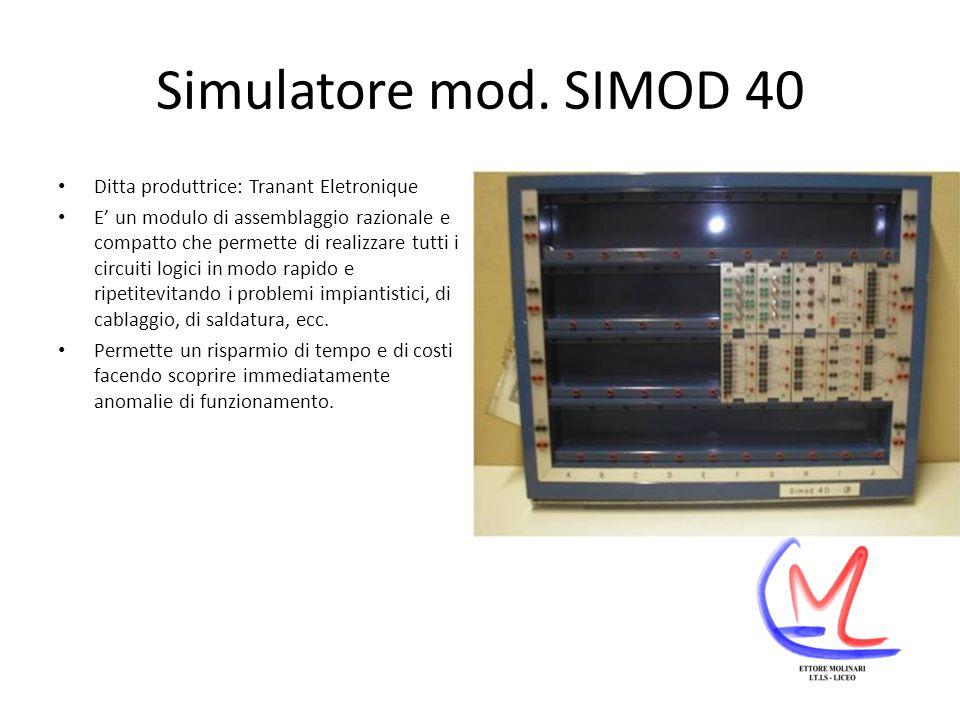 Simulatore mod. SIMOD 40 Ditta produttrice: Tranant Eletronique