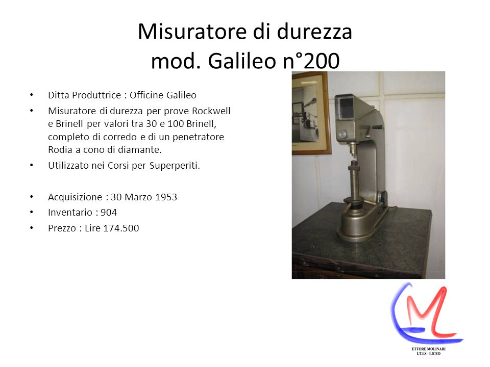 Misuratore di durezza mod. Galileo n°200