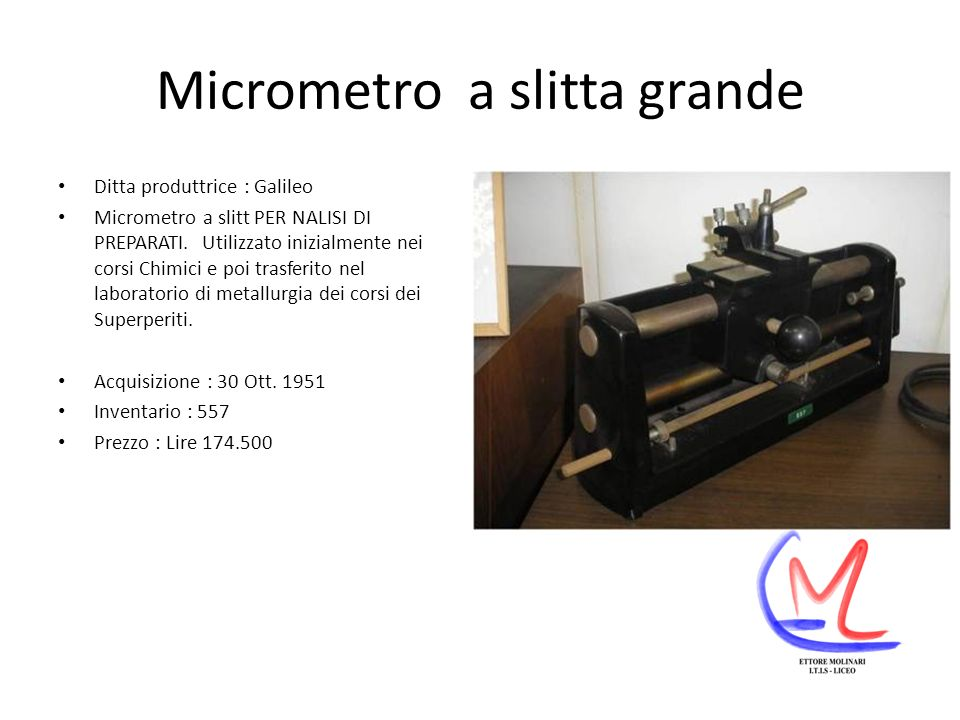 Micrometro a slitta grande